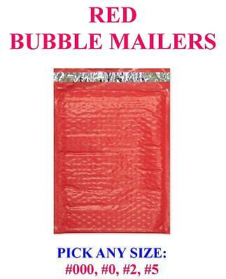 Red Colour Poly Bubble Mailers Padded Bags Shipping Mailing Self Seal Envelopes