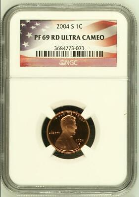 2004-S Proof Lincoln Memorial Cent  - NGC PF 69 RD Ultra Cameo