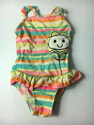 Girls George Multi Colour Stripe Swimming Costume Age 2-3  Years Swimsuit