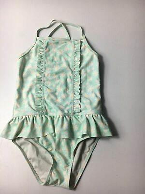 Girls George Mint Green & Daises  Swimming Costume Age 5-6 Years Swimsuit