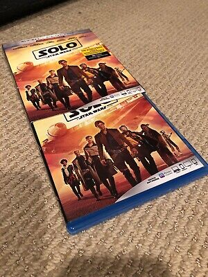 Solo A Star Wars Story (Blu Ray DVD 2018) With Digital Code Slipcover