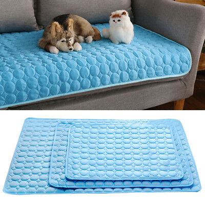 Pet Cool Gel Mat Dog Cat Bed Non-Toxic Cooling Dog Summer Pad 4 Sizes Free POST