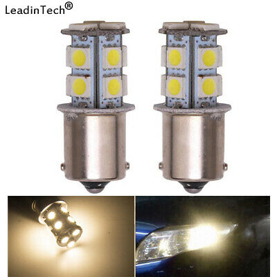 2x Warm White 1156 Interior 13 SMD LED 1141 1003 Light RV Camper Trailer Bulbs