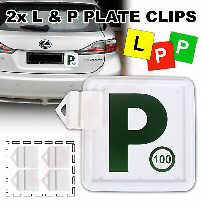 2x L & P PLATE HOLDER CLIPS RTA PLATE HOLDER for Number Plates