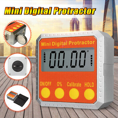 Electronic Inclinometer Mini Digital Protractor Angle Gauge 360° Magnetic