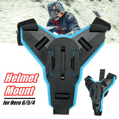 Motorcycle Full Face Helmet Chin Mount Fixed Holder For GoPro Hero 6/5/4