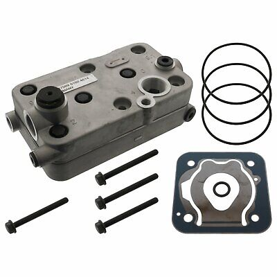 Air Compressor Cylinder Head Repair Kit Inc Valve Plate Fits Mercedes Febi 37989