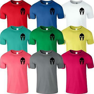 Spartan Helmet Mens T Shirt Warrior Training Workout Adult Fitness Top Tee