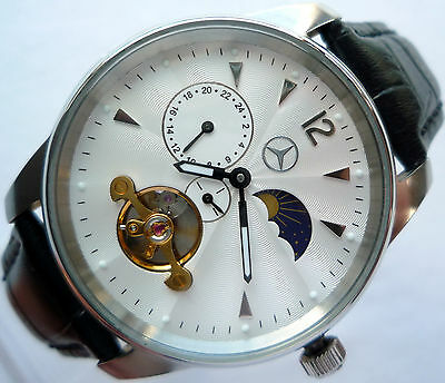Mercedes Benz Classic Dual Time Zone Design Car Accessory GMT Automatic Watch