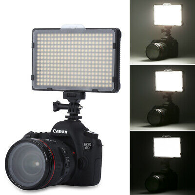 New Excelvan PT-308S 308pcs LED Light 5600K Dimmable Photography Flash Lamp