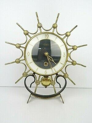 Vintage Art Deco Dutch ORFAC Mantel Shelf Clock (Warmink Junghans Kienzle era)