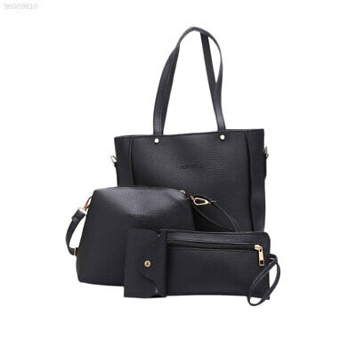 78E1 Portable Wallet PU Casual Totes 4pcs/Set