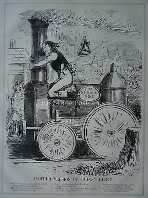 Railways & Whig ANOTHER VERSION OF JOHNNY GILPIN Original 1847 Victorian Print