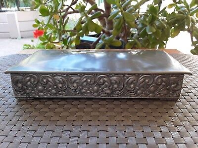 Vintage Hagness Pewter Norway Lidded Trinket Cigarette Box 1960's