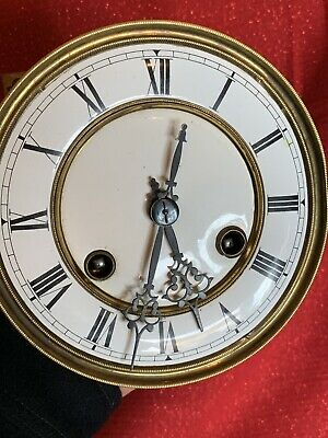 Antique RUDOLPH HAAS & SOHNE Black Forest Vienna Regulator Clock Movement & Dial