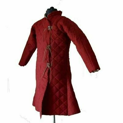 Beautiful Thick Padded Red Gambeson Medieval Play Theater Custome Sca Halloween