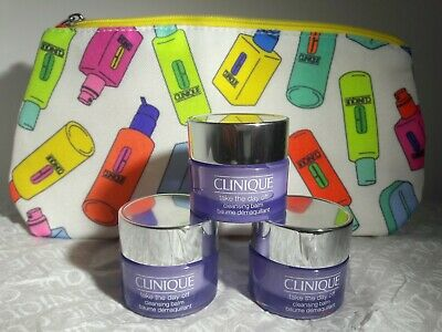Clinique Take The Day Off Cleansing Balm & Makeup/ Cosmetics Bag