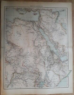 1900's colonial empire Cassell's world atlas sheet - North east Africa