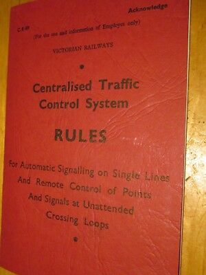 Rules forCentralised Traffic Control System, Victorian Railways System. [C8/89]