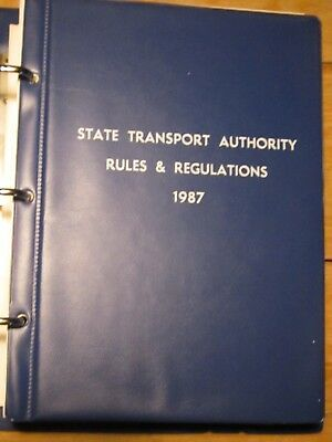 Book of Rules & Regulations. Issued 1987 for  Victorian Railways System.