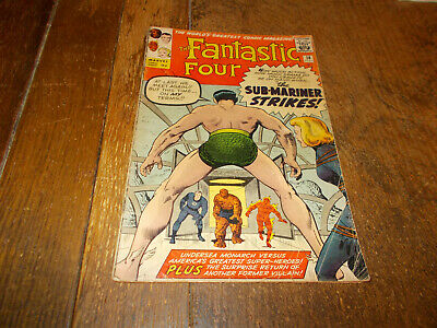 Fantastic Four #14 Marvel  1963 Silver Age 9d Lee Kirby 2nd app Puppet Master FR