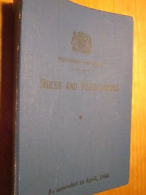 Book of Rules & Regulations, 1966 Edition,  Victorian Railways System