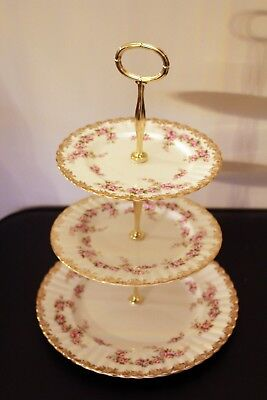 Royal Albert Dimity Rose 3 plate afternoon tea/Cake stand sold for Parkinsons UK