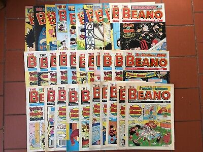 Beano Comics Job Lot (x 34) 1988 to 2007