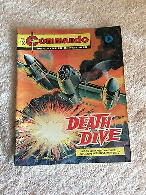 Very Early High Grade  Commando Comic Number 108