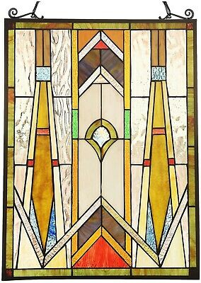 """24.6"""" x 17.7"""" Royal Mission Tiffany Style Stained Glass Window Panel Home Decor"""