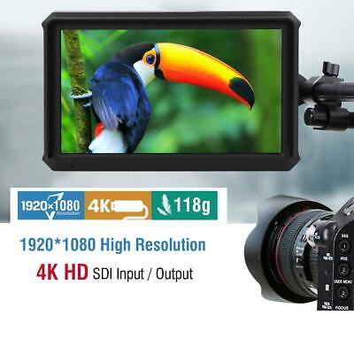 "Lilliput A5 5""inch IPS 4K 1920x1080 8bit HD DSLR Camcorder Camera Field Monitor"