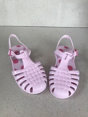Next Girls Pink Jelly Sandals Size UK 8