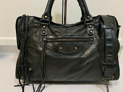 546c730ce3a Authentic Balenciaga S/S 2009 City Black Leather with Classic Hardware #77