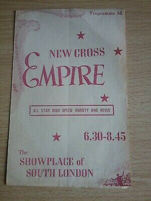 Music Hall And Variety  Programme From London's New Cross  Empire Dated 1954