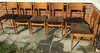 Vintage dining chairs set of six