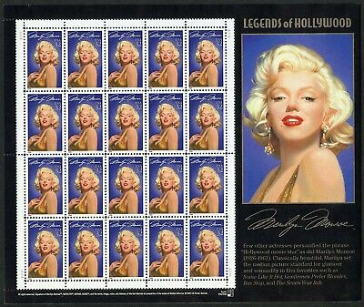 Us Scott# 2967 Marilyn Monroe Complete Sheet Of 20 Stamps Mnh As Shown