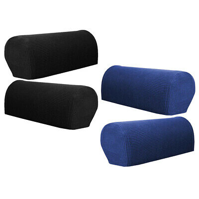 2 Pairs Stretch Sofa Arm Rest Covers Washable Chair or Sofa Arm Slipcovers