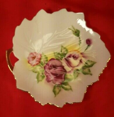 Beautiful Hand Painted Made In Japan Floral Design W Gold Rim Decorative Plate 4