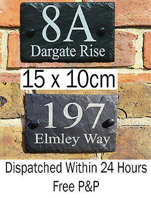Engraved Natural Slate House Door Gate Number Sign Plaque Any number or message