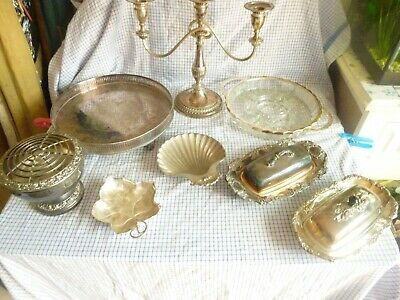 silver plated items job lot