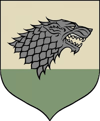 Calhoun Game of Thrones House Sigil Tournament Banner Stark
