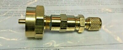 """Propane Tank to R12 or R22 Adapter, 1/4"""" Male Flare With Brass Cap, Part# 3"""