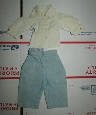 Vintage Madame Alexander Madelaine Tagged White Shirt & Denim Blue Jeans Outfit
