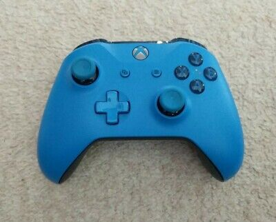 Wireless Microsoft Xbox One Wireless Controller Blue Model 1708! RB Faulty!