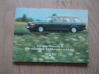 Mercedes-Benz Postcards Brochure / Prospekt 1977