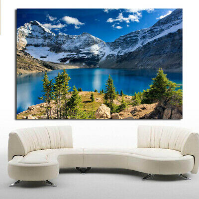 Wall Art Paintings On Canvas with Seaview,Snow Mountain,Figure,Flower,Stone