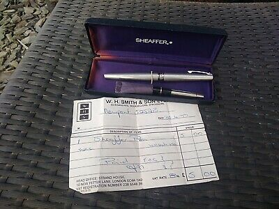 Sheaffer 1977 vintage fountain pen Lady Sheaffer, boxed, accessories, receipt