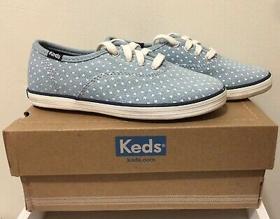 1258d9572 KEDS GIRL CHAMPION CVO Red White Blue Canvas Sneaker Oxford Athletic ...