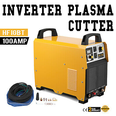 CUT-100 Pilot ARC Plasma Cutter 100 Amp IGBT Inverter Cutting Machine 35mm Cut