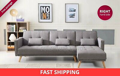 Scandinavian style extra large 3/4 seater sofa corner bed R/S contemporary desig